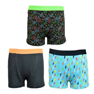 Boys 3 Pack of Gamer Boxers Trunks Pants Pants Size 5-12 yrs FREE P&P