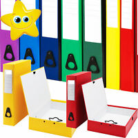 A4 STRONG COLOURED BOX FILES 9 COLOURS RED BLACK BLUE GREEN YELLOW FREE 24H