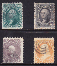 US Scott 68, 69, 70, 71 old 19th century stamps U/F-VF CV $650