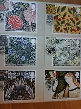 2011 MORRIS & CO PHQ350 SET OF 6 STAMP CARDS FRONT SPECIAL PICTORIAL HANDSTAMPS
