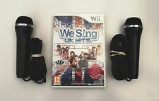 WE SING UK HITS AND 2 KARAOKE MICROPHONES WII PAL