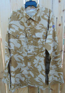 British Military Desert Camo combat field shirt Sz.200-112 XL-XXL,new non-issued
