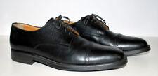 Santoni Mans Shoe Black 11.5 D Cap Toe Leather Shoe Lace Up