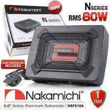 "NAKAMICHI NBF618A 6x8"" Car Underseat Active Subwoofer 80W w/ Built In Amplifier"