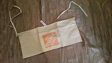 HOME DEPOT WAIST-TIE CANVAS TOOL STORAGE WORK CONSTRUCTION APRON, 2 POCKETS, NWT