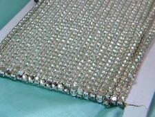 """Vintage Silver Crystal Rhinestone 3/16"""" ~Flat Back"""