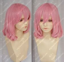 Sell! New Short pink Fashion Cosplay Party Curly Wigs