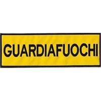 [Patch] GUARDIAFUOCHI - velcro incluso cm 30 x 10 toppa ricamo termoadesiva -355