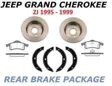 FOR JEEP GRAND CHEROKEE ZJ 95-99 REAR BRAKE DISCS PADS HANDBRAKE PARKING SHOES