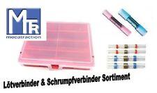 Sortiment Lötverbinder Schrumpfverbinder rot - blau wasserdicht 41 teilig