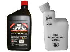 1Ltr 2 tiempos aceite botella de mezcla con, relación de medición Motosierra Cortadora