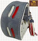 Premium Windhundhalsband WOZA Vollleder Sattlernaht Greyhound Soft Rindnappa A11
