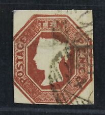 CKStamps: Great Britain Stamps Collection Scott#6 Victoria Used Tiny Thin Crease