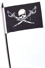 Pirate Skull and Crossbones Brethren of the Coast Small Hand Waving Flag