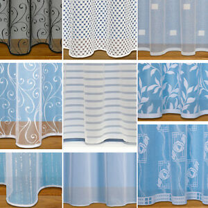 Net Curtains Straight Base With Slot Top ~ White Net Curtain ~ Sold By The Metre