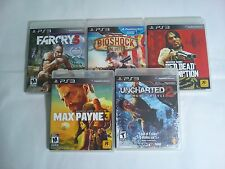 PS3 Action Game Lot: Farcry 3, Bioshock Infinite, Red Dead Redemption and more