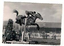 SHOW JUMPING. W.H.WHITE ON NIZEFELLA. REAL PHOTO POSTCARD