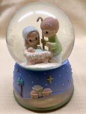 Precious Moments Nativity Musical Waterball Snowglobe Silent Night 2008