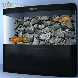 Black Stone Aquarium Background Poster HD Fish Tank Decorations Landscape