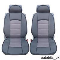 GREY UNIVERSAL PREMIUM COMFORT PADDED SEAT COVERS CAR VAN BUS TAXI MOTORHOME NEW
