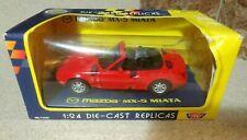 1:24 Scale Diecast First Generation Red Mazda MX5 Miata Motormax  NEW