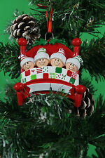 PERSONALISED CHRISTMAS TREE DECORATION ORNAMENT  BED HEADS  FAMILY OF 4