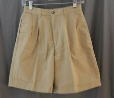 Land's End Junior, Size 5, Khaki Chino Pleated Front Shorts, New without Tags