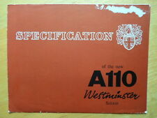 AUSTIN A110 WESTMINSTER SALOON orig 1961 UK Mkt Sales Brochure