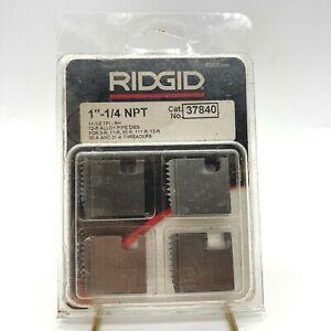 "NEW Ridgid 37840 1-1/4""-11-1/2 NPT 12R Alloy Pipe Threading Dies Set of 4 USA"