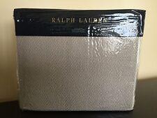 RALPH LAUREN 100% Cotton TWIN BLANKET Pale Flannel Grey PALMER PERCALE NWT