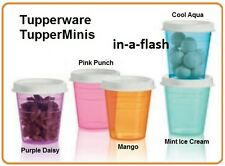 Tupperware SET OF 5 TUPPER MINIS 2 oz Small Little Container Midgets WHITE SEALS