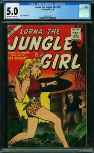 LORNA THE JUNGLE GIRL 22 CGC 5.0 OWW NICE COLORS 1 OF 1 HIGHEST GRADED A8