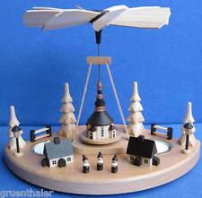 Pyramide kleiner Weihnachtsberg Seiffener Kirche Kurrende 18cm Erzegbirge NEU