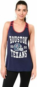Women's NFL Houston Texans Super Soft Mesh Racerback Tank Top, Large, Navy, NWT