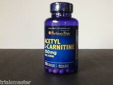 Puritan's Pride Acetyl L-Carnitine 250mg Free Form - 120 Caps New