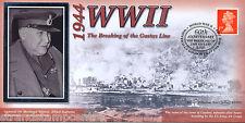 1944-2004 Benham WWII 60th Anniversary Cover - The Breaking of the Gustav Line