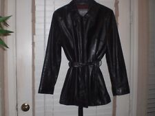 Wilsons Leather Jacket Coat Thinsulate Removable Vest Lining Full Zip with belt