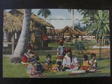 PM 1950 Seminole Family Group Native American Indians  FLORIDA Vintage Postcard