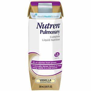 Oral Supplement / Tube Feeding Formula Nutren Pulmonary Vanilla (Case of 24)