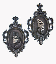 Framed Silhouette Skeleton Couple Halloween - Katherine's Collection 28-628124