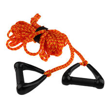 Double Handle Water Skiing Wakeboard Tow Harness Rope 1 Section 75ft -Orange
