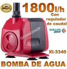 BOMBA AGUA SUMERGIBLE de 1800L/H 45W CAUDAL REGULABLE ACUARIO FUENTE ESTANQUE