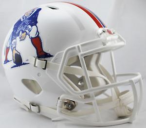 NEW ENGLAND PATRIOTS 1982-1989 THROWBACK Riddell SPEED Replica Football Helmet