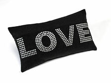 Love Cushion Case in Charcoal Luxury Felt SAME DAY DISPATCH - TRACKED