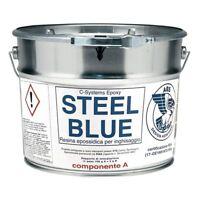 Resina epossidica bicomponente C-Systems Steel Blue 9Kg per colata  | Marca Cecc