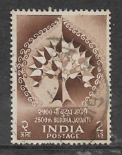 INDIA POSTAL ISSUE - 1956 USED COMMEMORATIVE STAMP - 2500th BUDDHA JAYANTI