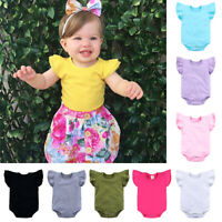 Infant Baby Girl Boy Sleeveless Romper Bodysuit Outfits Jumpsuit Summer Soft