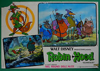 T55 Fotobusta Robin Hood Walt Disney Animation Zeichentrickfilm Cartoon