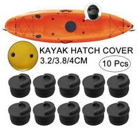 10Pcs Black Kayak Boat Scupper Stopper Oceans Canoe Bung Drain Holes Plugs uk