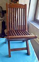 Ancienne Chaise enfant solide bois exotique vintage deco living room chambre